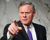 United States Senator Richard Burr (Republican of North Carolina), Chairman, US Senate Committee on Intelligence speaks to a reporter following a hearing to examine worldwide threats on Capitol Hill in Washington, DC on Tuesday, February 13, 2018<br /> Credit: Ron Sachs / CNP