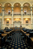Annapolis, State House, State Capitol, MD, Maryland, The House of Delegates inside the Maryland State House in the capital city of Annapolis.