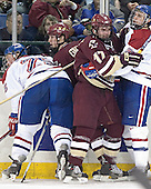 Kim Brandvold, Matt Greene, Joe Rooney, Matt Collar - The Boston College Eagles defeated the University of Massachusetts-Lowell River Hawks 4-3 in overtime on Saturday, January 28, 2006, at the Paul E. Tsongas Arena in Lowell, Massachusetts.