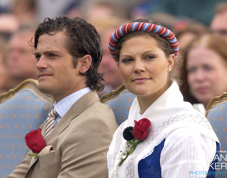 Prince Carl Philip celebrates Crown Princess Victoria of Sweden's 27th birthday with a concert in Borgholm...