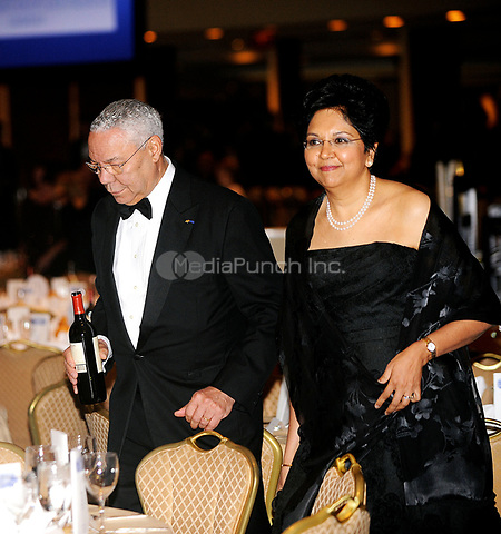 Former United States Secretary of State Colin Powell and his wife, Alma, attend  the White House Correspondents' Association Dinner at the Washington Hilton in Washington, DC, on Saturday, May 1, 2010.<br /> Credit: Olivier Douliery / Pool via CNP /MediaPunch