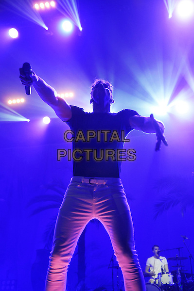 LONDON, ENGLAND - DECEMBER 13: Rob Damiani of 'Don Broco' performing at Brixton Academy on December 13, 2015 in London, England.<br /> CAP/MAR<br /> &copy; Martin Harris/Capital Pictures