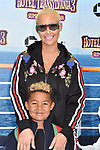 WESTWOOD, CA - JUNE 30: Amber Rose (R) and Sebastian Taylor Thomaz attend the Columbia Pictures and Sony Pictures Animation's world premiere of 'Hotel Transylvania 3: Summer Vacation' at Regency Village Theatre on June 30, 2018 in Westwood, California.