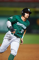 Daytona Tortugas Brian O'Grady (12) running the bases during a game against the Clearwater Threshers on April 19, 2016 at Bright House Field in Clearwater, Florida.  Clearwater defeated Daytona 4-1.  (Mike Janes/Four Seam Images)