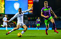Leeds United's Kemar Roofe shoots under pressure from Bristol City's Adam Webster<br /> <br /> Photographer Alex Dodd/CameraSport<br /> <br /> The EFL Sky Bet Championship - Leeds United v Bristol City - Saturday 24th November 2018 - Elland Road - Leeds<br /> <br /> World Copyright &copy; 2018 CameraSport. All rights reserved. 43 Linden Ave. Countesthorpe. Leicester. England. LE8 5PG - Tel: +44 (0) 116 277 4147 - admin@camerasport.com - www.camerasport.com