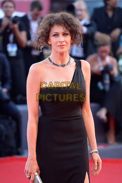 Ksenia Rappoport<br /> attending the Closing Ceremony of the 70th Venice International Film Festival at Palazzo del Cinema in Venice, Italy, September 7th 2013.<br /> half length black dress one shoulder strap long maxi slit split silver clutch bag <br /> CAP/ZZG<br /> &copy;ZZG/Capital Pictures