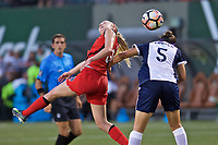 Portland, OR - Saturday July 22, 2017: Tyler Lussi during a regular season National Women's Soccer League (NWSL) match between the Portland Thorns FC and the Washington Spirit at Providence Park.