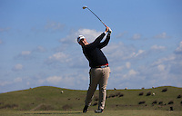 Jacob Smith during Round Two of the West of England Championship 2016, at Royal North Devon Golf Club, Westward Ho!, Devon  23/04/2016. Picture: Golffile | David Lloyd<br /> <br /> All photos usage must carry mandatory copyright credit (&copy; Golffile | David Lloyd)
