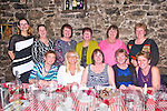Doreen Fitzell, Kilmoyley, celebrates her 50th birthday with family and Friends at Finnegans Restaurant on Thursday. Pictured front l-r Geraldine Collins, Nicola Fitzell, Doreen Fitzell (Birthday Girl), Nora Mai Young, Bernie Young, back l-r Mary O'Carroll, Maura Murphy, Sheila Sheehy, Patricia Caffery, Amelia Lowe, Claire Savage