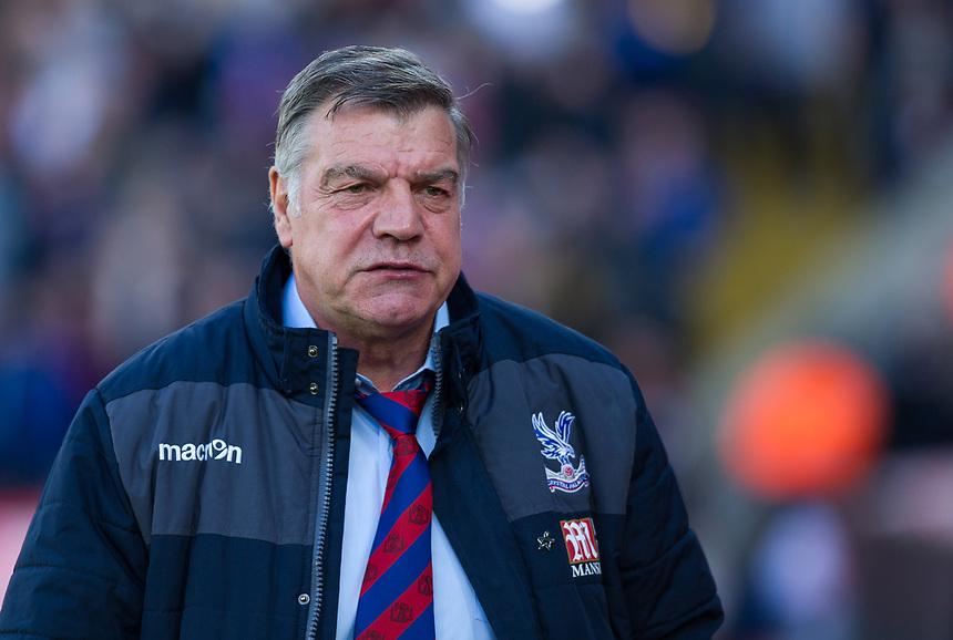 Crystal Palace manager Sam Allardyce <br /> <br /> Photographer Ashley Western/CameraSport<br /> <br /> The Premier League - Crystal Palace v Burnley - Wednesday 26th April 2017 - Selhurst Park - London<br /> <br /> World Copyright &not;&copy; 2017 CameraSport. All rights reserved. 43 Linden Ave. Countesthorpe. Leicester. England. LE8 5PG - Tel: +44 (0) 116 277 4147 - admin@camerasport.com - www.camerasport.com