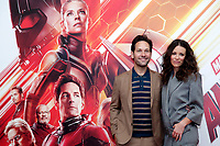 Paul Rudd and Evangeline Lilly<br /> Roma 19/07/2018. Ant-Man and the Wasp Photocall.<br /> Rome 19th of July.  Ant-Man and the Wasp photocell in Rome.<br /> Foto Samantha Zucchi Insidefoto