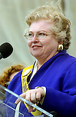 """Sarah Weddington, the lawyer who successfully argued Roe v. Wade, the United States Supreme Court decision that legalized abortion in 1973, speaks at the """"March for Women's Lives"""" in Washington, DC on April 25, 2004..Credit: Ron Sachs / CNP"""