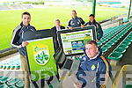 Pictured at the launch of the new Kerry GAA Website and iPhone app were Marc O'Shea, Weeshie Lynch, Barry John Keane, Ger Galvin and Kerry County Board Chairman Patrick O'Sullivan.
