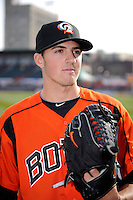 Bowie Baysox pitcher Kevin Gausman #8 poses for a photo before a game against the Erie Seawolves on April 23, 2013 at Jerry Uht Park in Erie, Pennsylvania.  Erie defeated Bowie 4-1.  (Mike Janes/Four Seam Images)