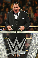 NEW YORK, NY - APRIL 6: Brutus 'The Barber' Beefcake at the 2019 WWE Hall Of Fame Ceremony at the Barclay's Center in Brooklyn, New York City on April 6, 2019.      <br /> CAP/MPI/GN<br /> ©GN/MPI/Capital Pictures