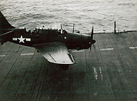 SB2C-4E #80A tried to land without flaps due to leaking oil and hydraulic fluid, came in too fast, crashed into the wire barrier, plane broke apart into three pieces, and caught on fire. The rear seat gunner Norman F. Riker was flung out and killed on the landing. Pilot Glen M. Evens was injured and eventually pulled out of the plane. Happened just after leaving San Diego on way to Hawaii. -  Feb. 3, 1945