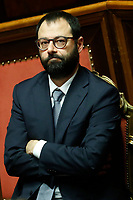 Stefano Patuanelli Minister of Economic Development<br /> Rome December 12th 2019. Speech of the Italian Premier about MES, European Stability Mechanism.<br /> Foto Samantha Zucchi Insidefoto