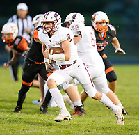 Middleton's Bryce Carey carries for a quarterback keeper, as Wisconsin Big Eight Conference high school football between Middleton and Verona on Friday, 8/24/18 at Verona High School