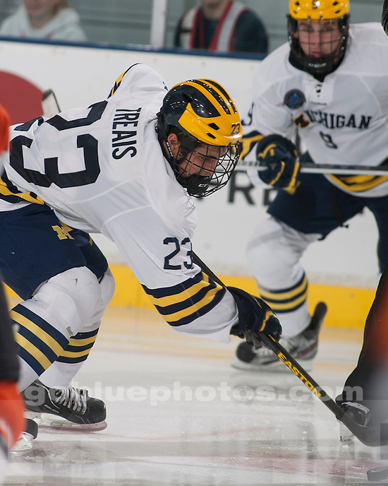 The University of Michigan ice hockey team beat RIT, 7-2, at Yost Ice Arena in Ann Arbor, Mich., on October 12, 2012.