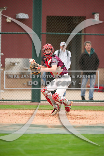 Luke Nagy (14) of Cy Woods High School in Cypress, Texas during the Under Armour All-American Pre-Season Tournament presented by Baseball Factory on January 15, 2017 at Sloan Park in Mesa, Arizona.  (Zac Lucy/Mike Janes Photography)