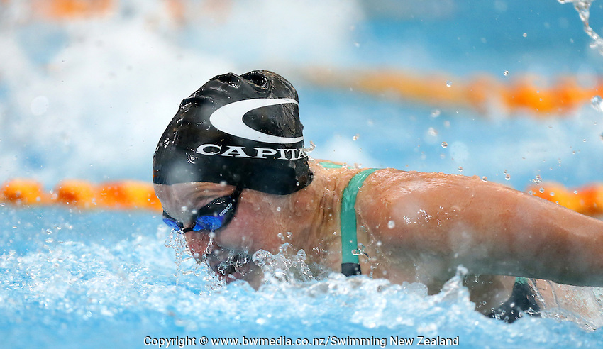 Samantha Lee during Session Two of the 2015 New Zealand Short Course Championships, Sir Owen G. Glenn National Aquatic Centre, Auckland, New Zealand, 11 August 2015. Photo: Simon Watts/www.bwmedia.co.nz