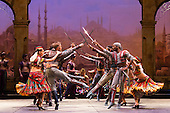 London, UK. 12 January 2016. The English National Ballet perform Le Corsaire staged by Anna-Marie Holmes after Marius Petipa and Konstantin Sergeyev at the London Coliseum. Performances run until 25 June 2016. Photo credit: Bettina Strenske