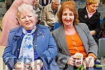 Mary Collins (St John's Park) and Breda Cashel (Kilflynn) enjoying a cup of tea at the Grandparents Day on Thursday in Gaelscoil Mhic Easmainn