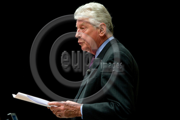 AMSTERDAM - NETHERLANDS - 06 MARCH 2008 -- Wim (Willem) KOK, former Prime Minister of Netherlands speaking at the opening of the Moroccan Dutch Leadership Institute at the Vrije Universiteit. Photo: Erik Luntang/EUP-IMAGES
