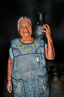 Crispina, Ceramic Potter, Oaxaca, Mexico, 2019<br />