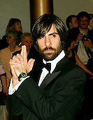 "Jason Schwartzman strikes a ""James Bond"" pose as he arrives for the eighth annual Mark Twain Prize for American Humor, which is being awarded this year to Steve Martin at the John F. Kennedy Center for the Performing Arts in Washington on October 23, 2005.Credit: Ron Sachs / CNP"