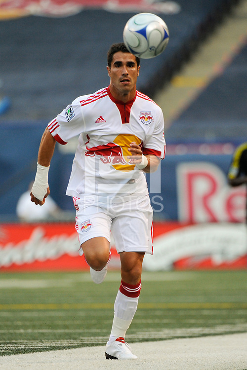 Juan Pablo Angel (9) of the New York Red Bulls. The New York Red Bulls defeated the Columbus Crew 1-0 during a Major League Soccer match at Giants Stadium in East Rutherford, NJ, on August 30, 2009.