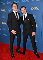 LOS ANGELES, USA. January 25, 2020: George MacKay & Dean-Charles Chapman at the 72nd Annual Directors Guild Awards at the Ritz-Carlton Hotel.<br /> Picture: Paul Smith/Featureflash