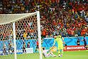 (L to R) <br /> Jordi Alba, <br /> Iker Casillas (ESP), <br /> JUNE 13, 2014 - Football /Soccer : <br /> 2014 FIFA World Cup Brazil <br /> Group Match -Group B- <br /> between Spain 1-5 Netherlands <br /> at Arena Fonte Nova, Salvador, Brazil. <br /> (Photo by YUTAKA/AFLO SPORT) [1040]