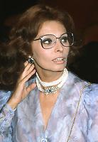 Sophia Loren 1982<br /> Photo By John BarrettPHOTOlink.net