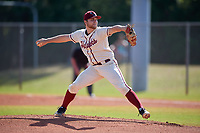 Saint Joseph's Hawks starting pitcher Cole Stetzar (2) during a game against the Ball State Cardinals on March 9, 2019 at North Charlotte Regional Park in Port Charlotte, Florida.  Ball State defeated Saint Joseph's 7-5.  (Mike Janes/Four Seam Images)