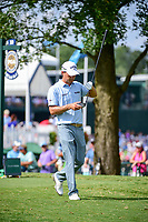 Kevin Kisner (USA) looks over his driver as he departs the 10th tee during Sunday's final round of the PGA Championship at the Quail Hollow Club in Charlotte, North Carolina. 8/13/2017.<br /> Picture: Golffile | Ken Murray<br /> <br /> <br /> All photo usage must carry mandatory copyright credit (&copy; Golffile | Ken Murray)