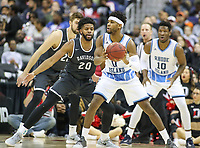 Washington, DC - March 11, 2018: Rhode Island Rams guard E.C. Matthews (0) makes a pass during the Atlantic 10 championship game between Rhode Island and Davidson at  Capital One Arena in Washington, DC.   (Photo by Elliott Brown/Media Images International)