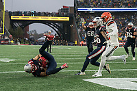 FOXBOROUGH, MA - OCTOBER 27: New England Patriots Wide Receiver Julian Edelman #11 touchdown during a game between Cleveland Browns and New Enlgand Patriots at Gillettes on October 27, 2019 in Foxborough, Massachusetts.