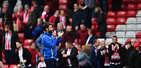 Lincoln City manager Danny Cowley applauds the fans at the final whistle<br /> <br /> Photographer Chris Vaughan/CameraSport<br /> <br /> The EFL Sky Bet League Two - Lincoln City v Chesterfield - Saturday 7th October 2017 - Sincil Bank - Lincoln<br /> <br /> World Copyright &copy; 2017 CameraSport. All rights reserved. 43 Linden Ave. Countesthorpe. Leicester. England. LE8 5PG - Tel: +44 (0) 116 277 4147 - admin@camerasport.com - www.camerasport.com