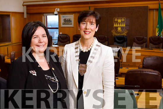Moira Murrell, CEO Kerry County Council and Norma Foley, Mayor of Kerry.