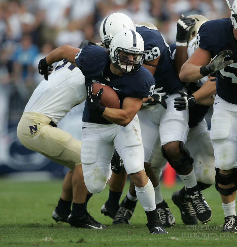 State College, PA - 09/15/2012:  Penn State FB Michael Zordich carries the ball.  Zordich gained 50 yards on 11 carries during the game.  Penn State defeated Navy by a score of 34-7 on Saturday, September 15, 2012, at Beaver Stadium.  The win was the first for new Penn State head coach Bill O'Brien...Photo:  Joe Rokita / JoeRokita.com..Photo ©2012 Joe Rokita Photography