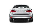 Straight rear view of 2015 Lexus LS 350 F Sport 4 Door Sedan Rear View  stock images