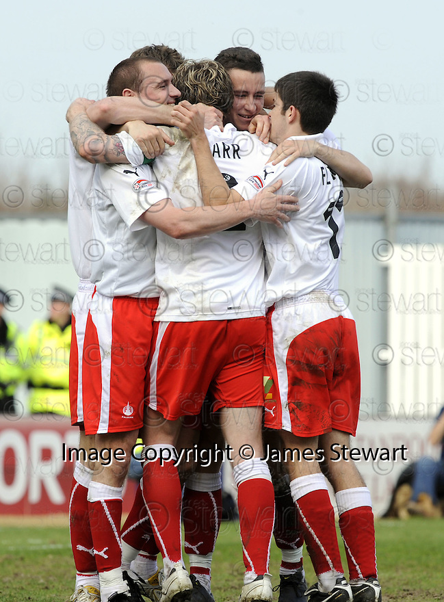 10/04/2010   Copyright  Pic : James Stewart.sct_jsp11_falkirk_v_st_mirren  .::  DARREN BARR IS CONGRATULATED  AFTER HE SCORES FALKIRK'S SECOND ::  .James Stewart Photography 19 Carronlea Drive, Falkirk. FK2 8DN      Vat Reg No. 607 6932 25.Telephone      : +44 (0)1324 570291 .Mobile              : +44 (0)7721 416997.E-mail  :  jim@jspa.co.uk.If you require further information then contact Jim Stewart on any of the numbers above.........