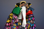 "Minamisanriku, Miyagi, Japan - Mexicans with traditional dress dance for Japanese refugees at Sports Koryu Mura in Minamisanriku, one year after the tsunami. The Latin group of volunteers ""Todos con Japon"" visits Miyagi area during this Golden Week."