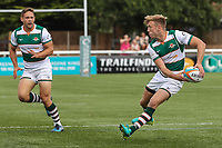 Sam Oliver of Ealing Trailfinders during the Friendly match between Ealing Trailfinders and Dragons  at Castle Bar , West Ealing , England  on 11 August 2018. Photo by David Horn / PRiME Media Images.