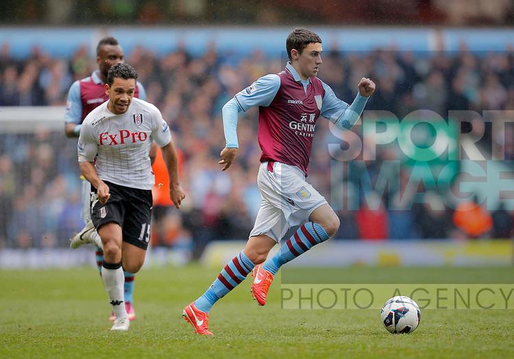 Matthew Lowton of Aston Villa - Aston Villa vs Fulham - Barclays Premiership  - Villa Park Birmingham -  Season 12/13 - 13/4/13.Photograph Malcolm Couzens/Sportimage