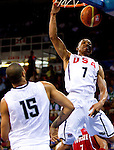 02.09.2010, Abdi Ipekci Arena, Istanbul, TUR, 2010 FIBA World Championship, USA vs Tunisia, Im Bild Russel Westbrook of USA during  the Preliminary Round - Group B basketball match between National teams of USA and Tunisia.  Foto: nph /   Vid Ponikvar *** ATTENTION *** SLOVENIA OUT!