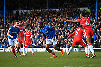Jamal Lowe of Portsmouth (m) scores the first goal and celebrates during Portsmouth vs Gillingham, Sky Bet EFL League 1 Football at Fratton Park on 10th March 2018