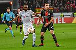 08.11.2018, BayArena, Leverkusen, Europaleque, Vorrunde, GER, UEFA EL, Bayer 04 Leverkusen (GER) vs. FC Zuerich (SUI),<br />  <br /> DFL regulations prohibit any use of photographs as image sequences and/or quasi-video<br /> <br /> im Bild / picture shows: <br /> Charles Ar&aacute;nguiz (Leverkusen #20), im Zweikampf gegen  Umaru Bangura (FC Zuerich #17), <br /> <br /> Foto &copy; nordphoto / Meuter<br /> <br /> <br /> <br /> Foto &copy; nordphoto / Meuter