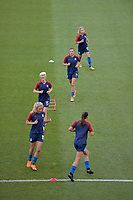 Sandy, Utah - Thursday June 07, 2018: Amy Rodriguez, Sofia Huerta, Megan Rapinoe, Allie Long during an international friendly match between the women's national teams of the United States (USA) and China PR (CHN) at Rio Tinto Stadium.